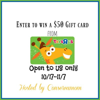 $50 Toys R US Gift Card Giveaway {US | Ends 11/07}