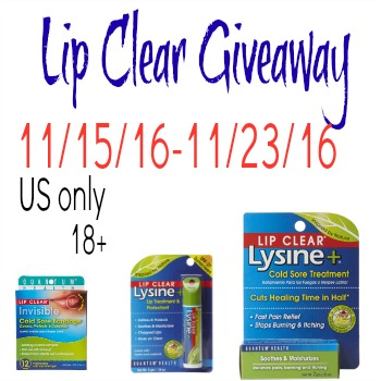 Lip Clear Giveaway {US | Ends 11/23}