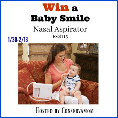 Baby Smiles Nasal Aspirator Giveaway {US | Ends 02/13}