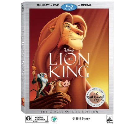 Disney's The Lion King on Digital Aug. 15 & Blu-ray Aug. 29