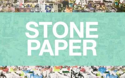 Papel de piedra. Sin celulosa, Sin agua, Sin cloro, Sin PVC