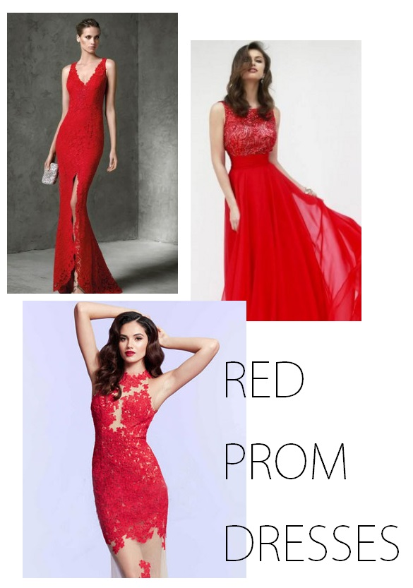 Aislestyle red prom dresses