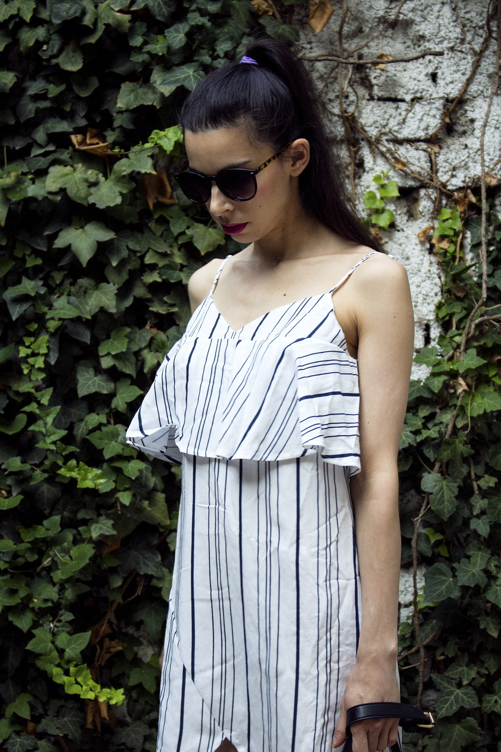 Stripe spliced sammydress
