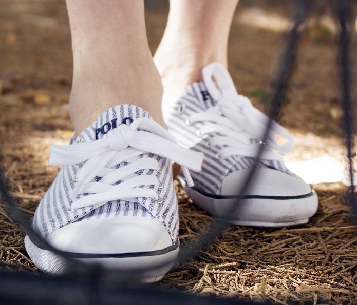 7 Ralph Lauren stiped sneaker