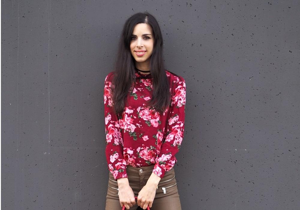 Floral shirt and red tote bag Zaful review – Virágos blúz és piros táska – Zaful webshop vélemény