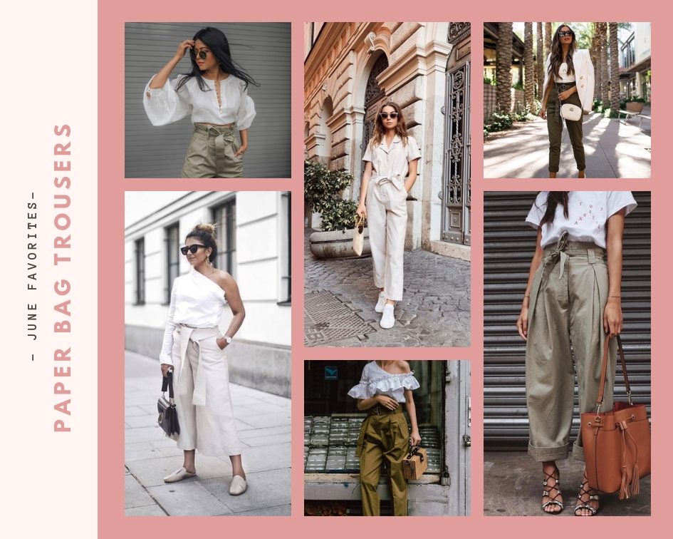 Paper bag trousers summer trend