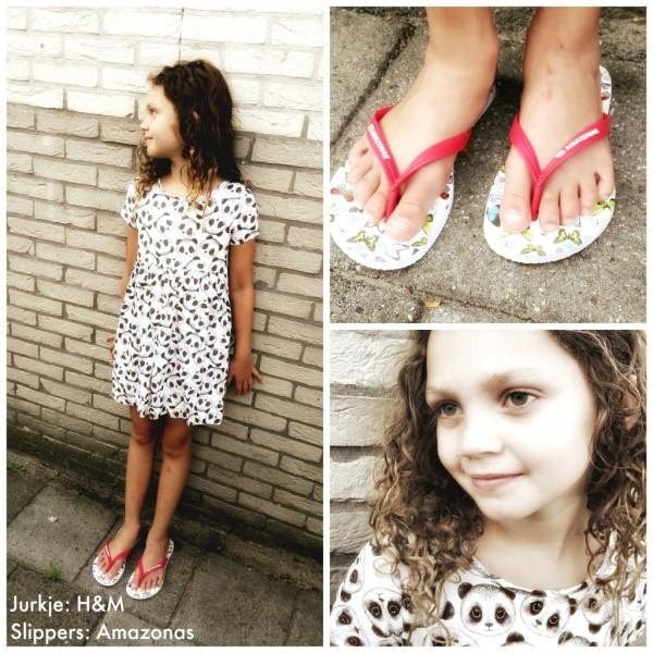 Keira in H&M en slippers van Amazonas
