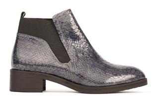 326-02 flat boot grey snake 1