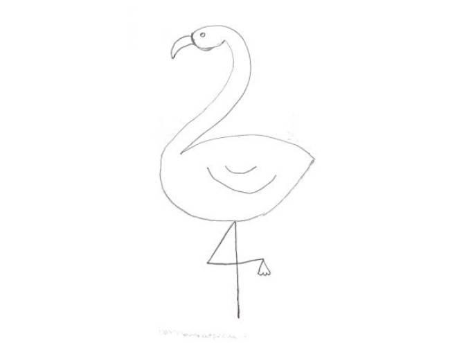 Flamingo tekenen met Sien en Co knutselblog voor Mommy loves Pink de poten - DIY de Roze Flamingo