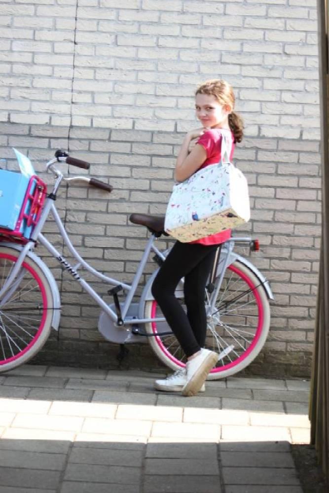 IMG 7667 - De fietstas 2.0: als schoudertas en als fietstas te gebruiken