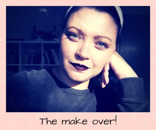 The make over - Beauty | De blogger make over | Peach eyes en donkere lippen