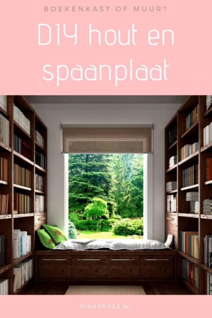 DIY met spaanplaat en hout boekenkast of muur zelf maken - De beste DIY ideeën met gipsplaten en houten balken!