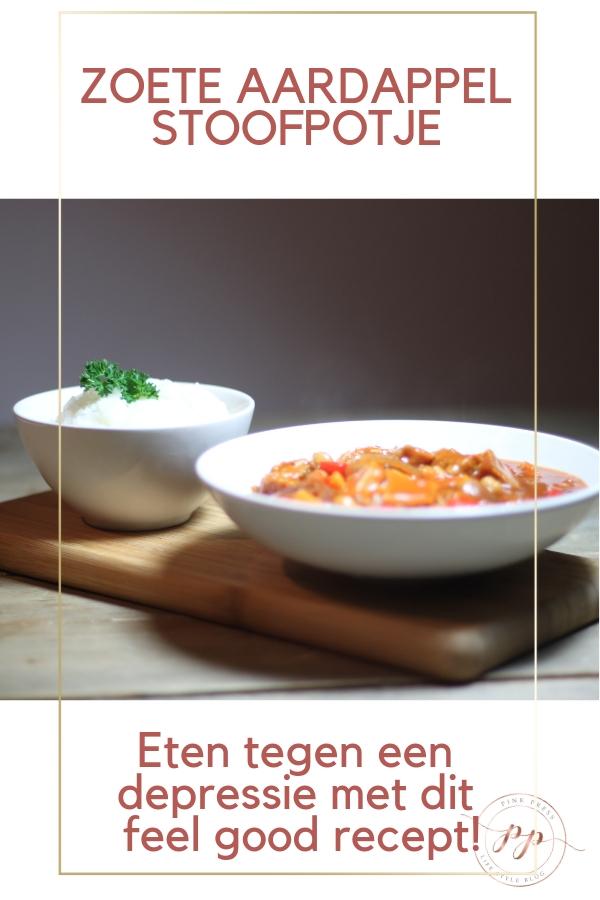 zoete aardappel stoofpotje recept - Eten tegen een depressie met dit feel good recept!
