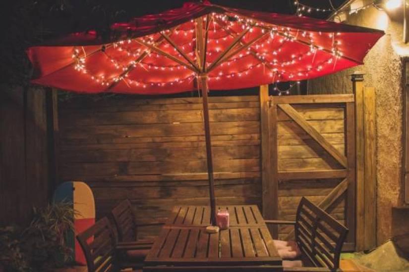 parasol lichtjes