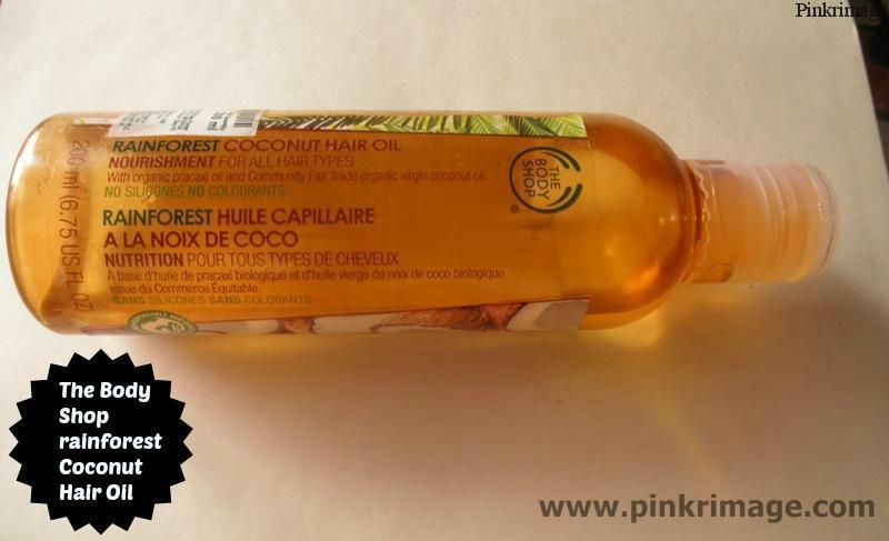 The Body Shop Rainforest Coconut Hair oil- Review