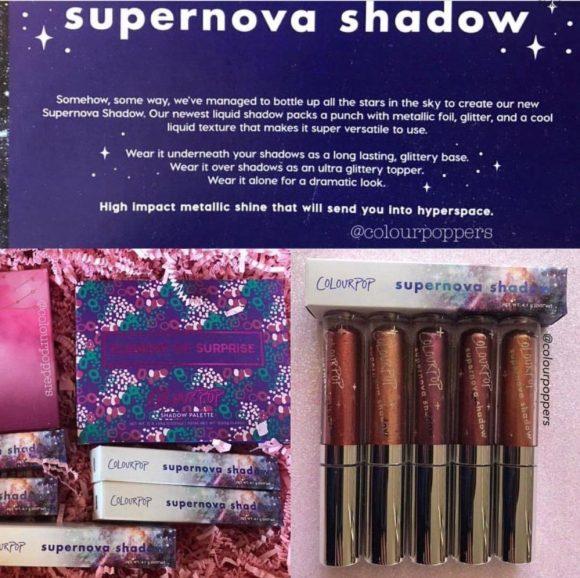 Colourpop Supernova Liquid Shadows