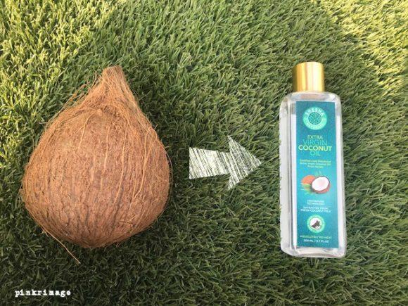 coconut oil on dry hair