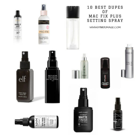 Ten Best Dupes Of Mac Fix Plus Setting Spray I Mac Fix Plus Dupe