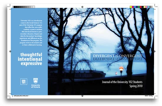 uni 102 journal cover, spring 2010