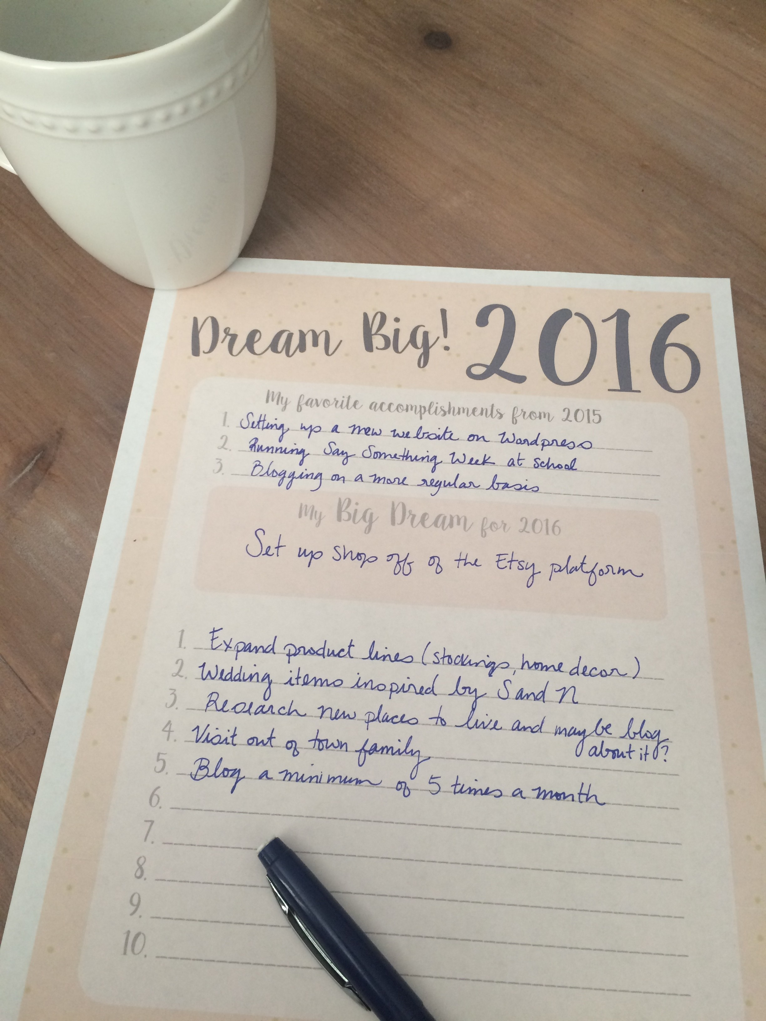 Dream Big In Goal Setting For The New Year