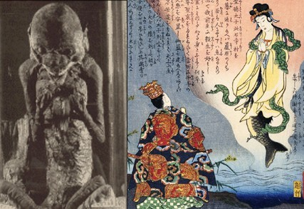 Fuji mermaid speaks to Shotoku Taishi