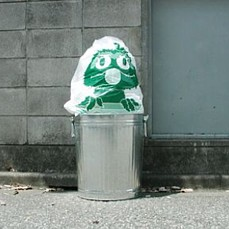 Oscar Garbage Bag Art Work --