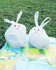 Rabbit-kun Garbage Bag Art Work --