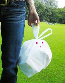 Rabbit-kun Garbage Bag Art Work --
