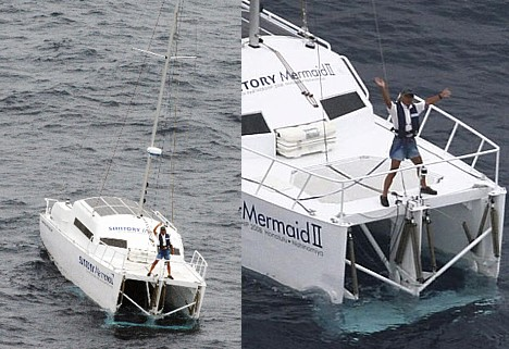 Suntory Mermaid II wave-powered boat arrives in Japan --