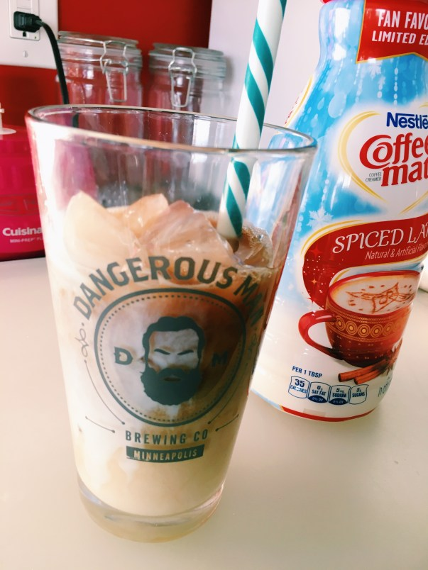 iced coffee spiced latte