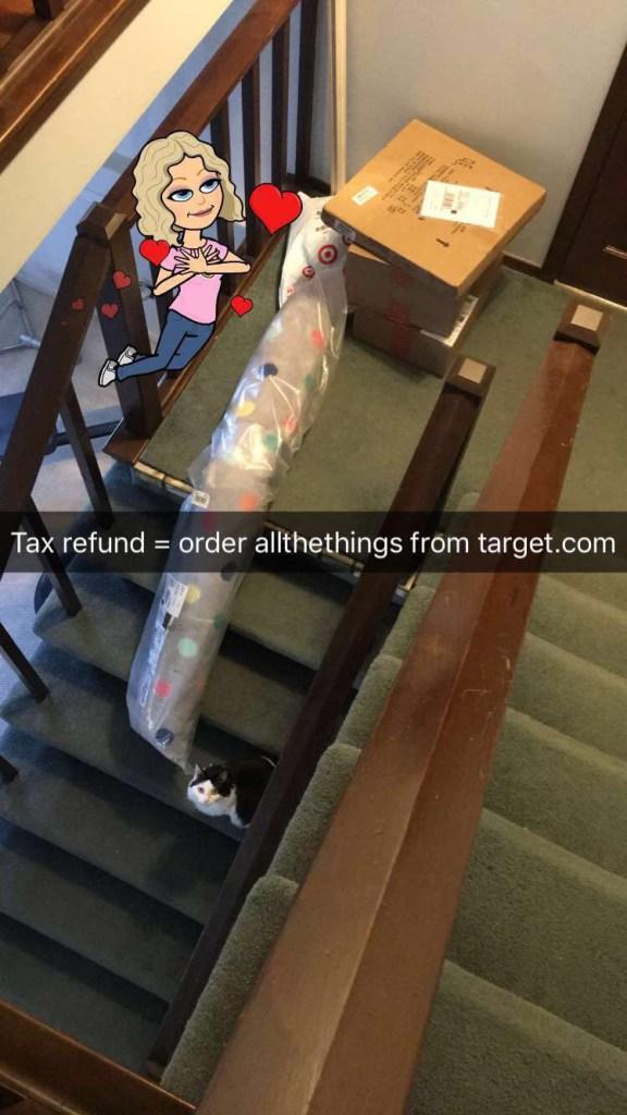 tax refund target shopping via pinktoastblog.com