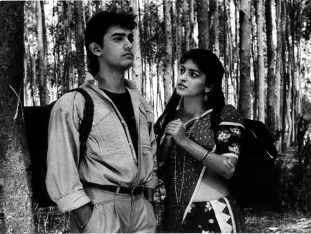 Image result for images of juhi chawla and aamir khan