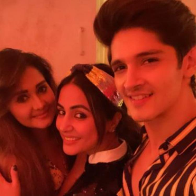 Welcome 2021: Hina Khan celebrates New Year with beau Rocky Jaiswal, Priyank Sharma & others; See PHOTOS