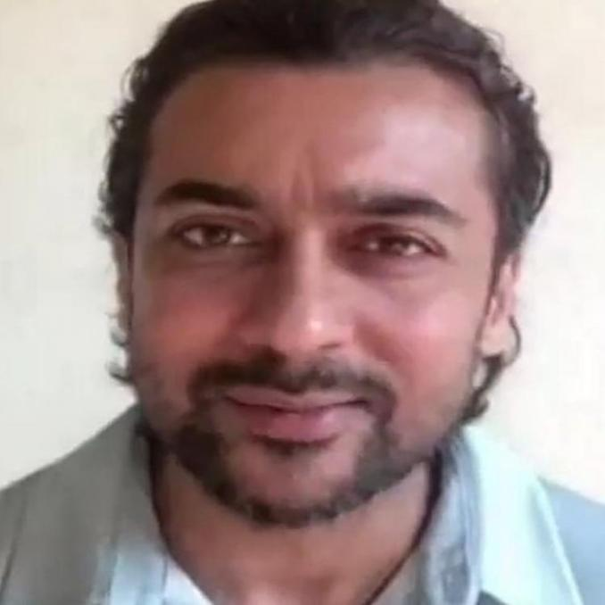 Suriya's latest photo in long tresses