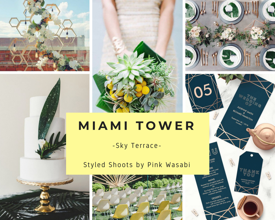 Miami Tower Styled Wedding Pink Wasabi Florida Weddings Events