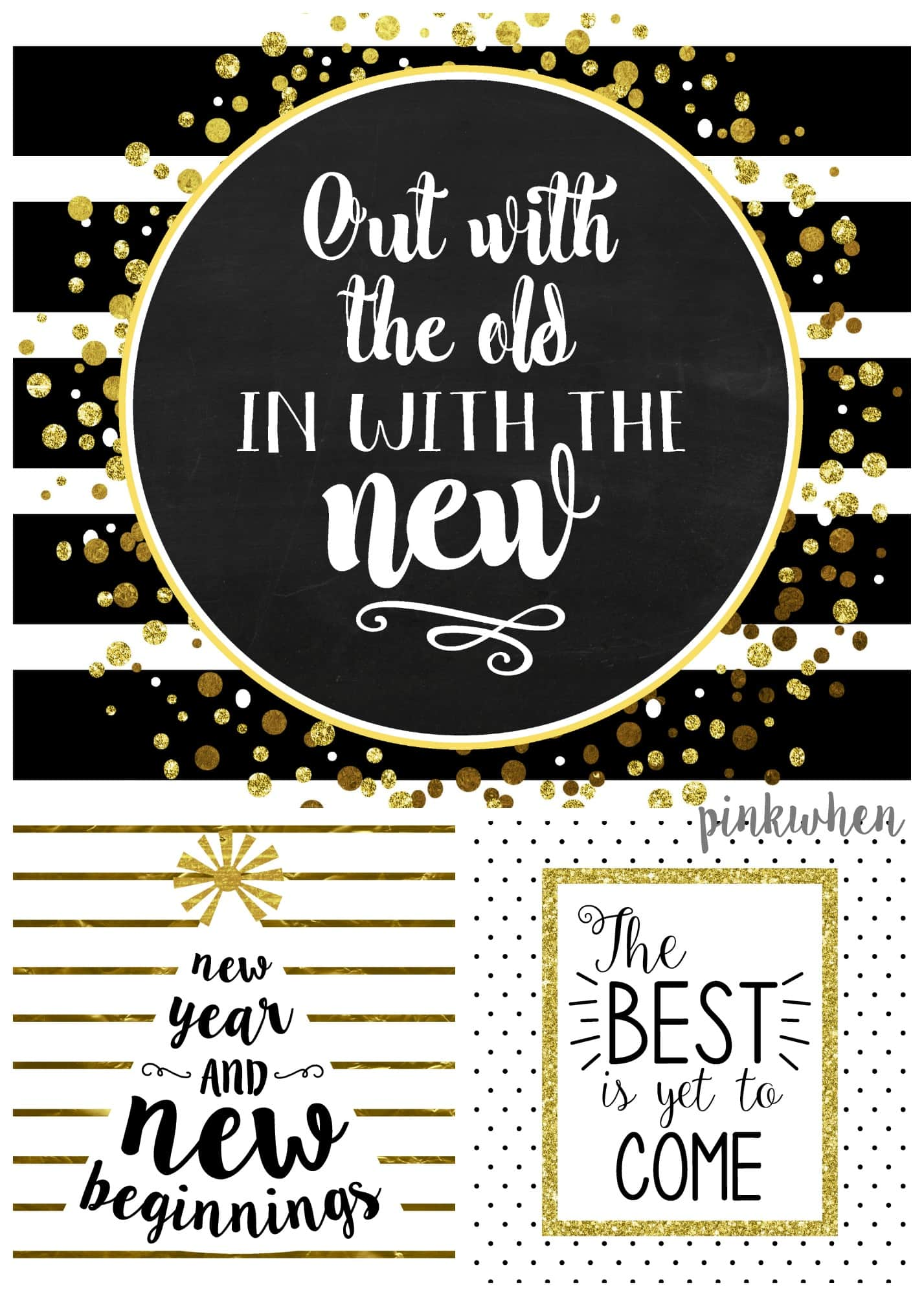 3 New Years Free Printables
