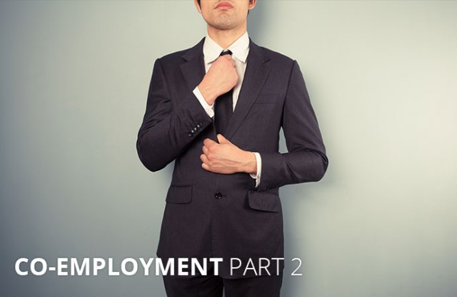 "Man in a suit with text: ""Co-Employment Part 2"""