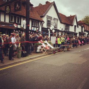 The Queen's Head; as always a popular venue for all.