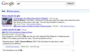 Google Search Real-Time Web