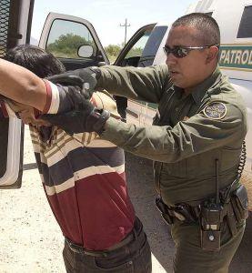 US Border Patrol in azione