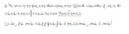 la mia calligrafia