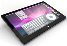 Aspetto ipotetico del tablet Apple
