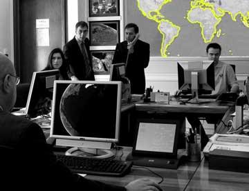 Sala operativa dell'Unità di Crisi della Farnesina