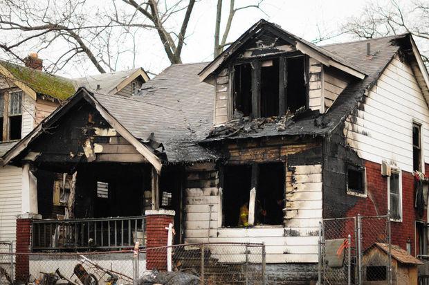 Casa abbandonata e vandalizzata a Detroit