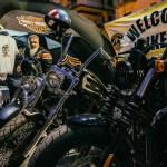 benvenuto ai bikers e allestimento degli stand