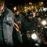 bikers che arriva con Harley Davidson