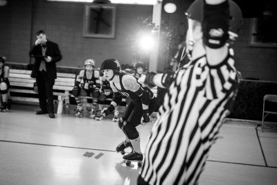 Taken at the Gibson roller rink during the LBD @ Cornfed bout 2/16/14