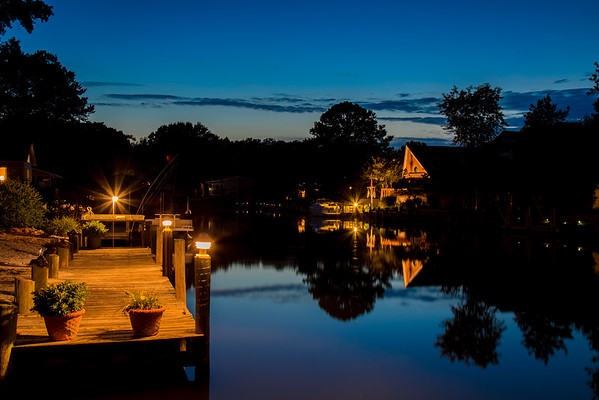 Sunset in Ocean Pines, Maryland