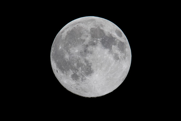 The Blue Moon over Central Indiana in July of 2015