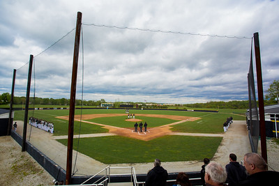 A general view of Emory G. Bauer Field during the National Anthem of a game between the Purdue Boilermakers and the Valparaiso Crusaders on May 12, 2015.